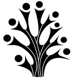 Family tree symbol vector image