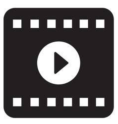 Film play icon vector