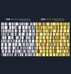 goldsilver gradientpatterntemplateset of vector image