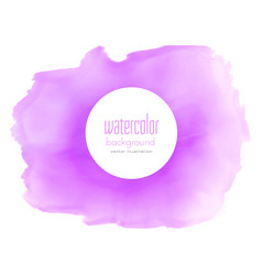 purple watercolor stain texture background vector image vector image