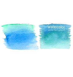 set of abstract watercolor backgrounds vector image vector image