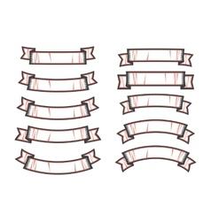 Set of ribbon shapes vector image