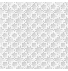 Arab white pattern background vector image vector image