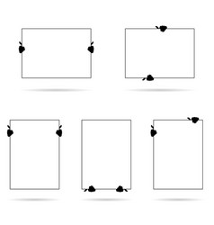 Card in hands set in black and white vector