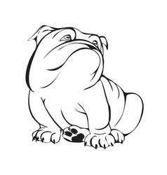 dreamy bulldog vector image vector image