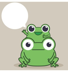 Frog Duo vector image vector image