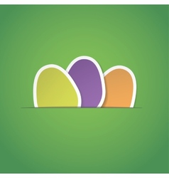 green easter egg background vector image
