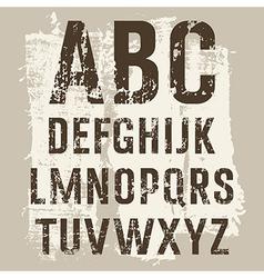 Grunge Letters set vector image vector image