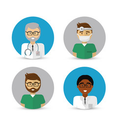 hospital doctors icon image vector image