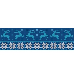 Blue and white christmas jumper vector