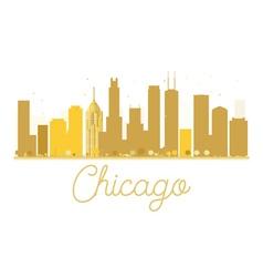 Chicago City skyline golden silhouette vector image