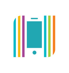 colour phone vector image