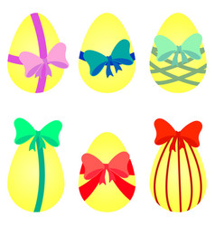 eggs with bow vector image