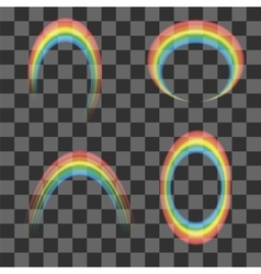 Set of Transparent Rainbow Icons vector image