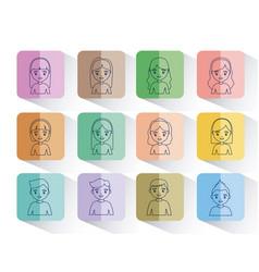 social network design vector image vector image