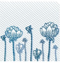 background of flowers vintage 2 vector image