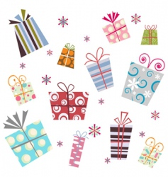 gift background vector image vector image