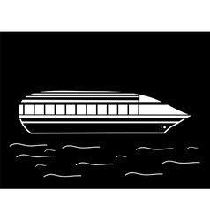 High speed passenger water white black vehicle vector image vector image