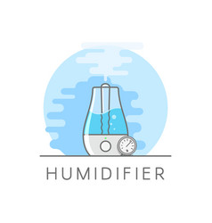 humidifier and hygrometer in flat style vaporizer vector image vector image