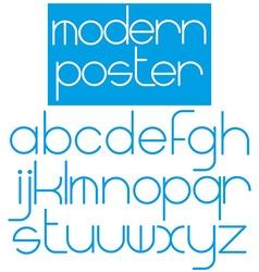 Modern font for poster brochure booklet flyer vector image vector image