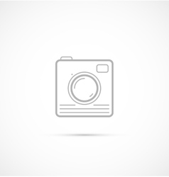 Trendy flat hipster camera photo icon vector image vector image