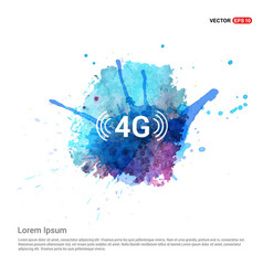 4g connection icon - watercolor background vector