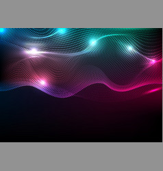 Abstract futuristic colorful neon wavy background vector