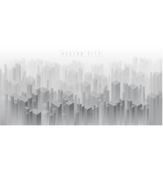 Abstract isometric 3d crowded city background vector