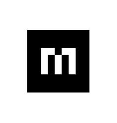 alphabet m logo design m letter icon vector image