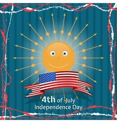 American Independence Day Concept vector image