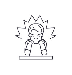 anger line icon concept anger linear vector image