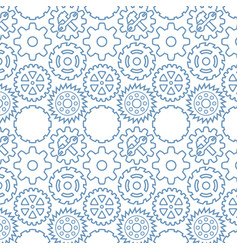 background pattern with machine gears vector image
