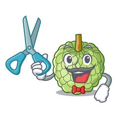 barber sugar apple fruit isolated on cartoon vector image