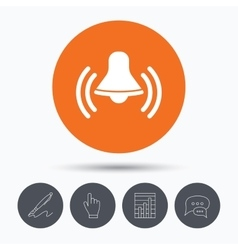 Bell icon Reminder alarm signal sign vector image