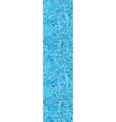 blue field floral texture vertical border seamless vector image