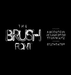 brush font alphabet letters hand drawn grunge vector image