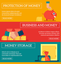 business financing concept horizontal banners set vector image
