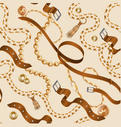 chains and braids pattern seamless ornamental vector image