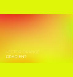 Color gradient background yellow orange abstract vector