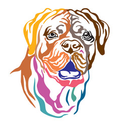 Colorful decorative portrait of dog dogue de vector