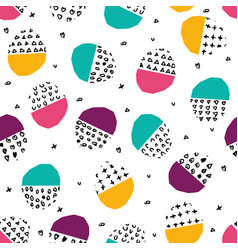 Colorful seamless pattern with brush dots vector
