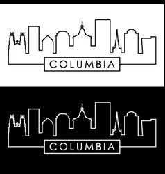 columbia skyline linear style editable file vector image