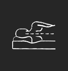 Correct sleeping position for spinal health chalk vector