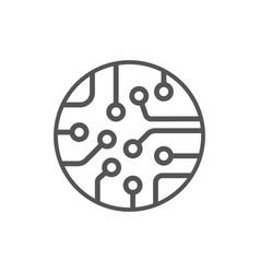 cpu icon processor technology vector image