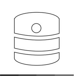 database icon design vector image
