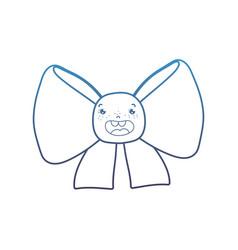 degraded line kawaii happy ribbon bow accessory vector image