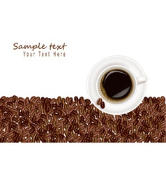 Design with coffee and bean white background vector