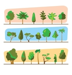 Diversity of trees set on white vector image