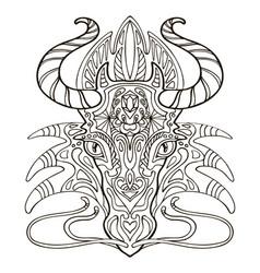 dragon coloring vector image