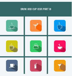drink and cup icon part iii vector image